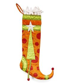 Look at this Polka Dot Stocking on #zulily today!