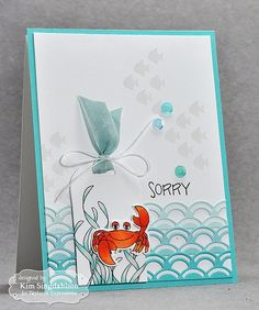 Under the Sea from Joyful Creations with Kim using new products available 6/4/15 from Taylored Expressions!  Be sure to head to the link for a picture of the inside of the card using this cute crab!