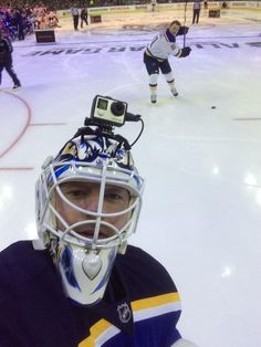 Elliott's selfie with Tarasenko from the 2015 NHL All-Star Skills Competition in Columbus.