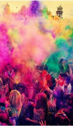 Holi Festival, India. The Hindu festival of Holi, also called the Festival of Colors, is celebrated with much enthusiasm in the month of Phalgun, which usually corresponds to the month of March. It marks the arrival of spring and the bright colors represent energy, life, and joy.