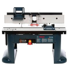 With its cast aluminum table top, high quality fence, removable mounting plate and dual outlet power switch, the Bosch RA1181 router table is the best bench-top/job-site router table on the market—all for an amazingly low price.