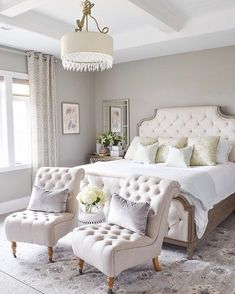 """20.5k Likes, 130 Comments - LIKEtoKNOW.it (@liketoknow.it) on Instagram: """"Glam up your #LTKhome bedroom design with a ton of tufted detail and a crisp white palette a la…"""""""
