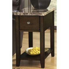 FurnitureMaxx Ex presso Chair Side End Table : End Tables
