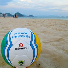 Look what we spotted in Brazil for the #WorldCup ?! An awesome @Senda Athletics #FairTrade soccer ball! Gooooaaaallll! #soccer