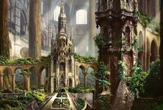 Ravnica Temple Garden. Art by Rob Alexander.