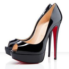 Christian-Louboutin; every girl has to have a pair of black peep-toe heels ;)