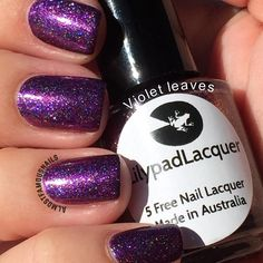 Lilypad Lacquer Violet Leaves from the Fabulous Floral collection, March 2015. Bought from LPL Australia's restock in March 2015. Pinned from Almost Famous Nails' blog