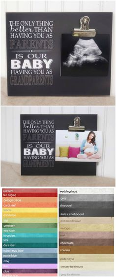 Pregnancy Reveal to Grandparents, Pregnancy Announcement Photo Frame, Gift For New Grandparents {Only Thing Better, Our Baby, Grandparents}  #giftideas #babyshowergifts #baby #pregnancyreveal #gifts #affliate