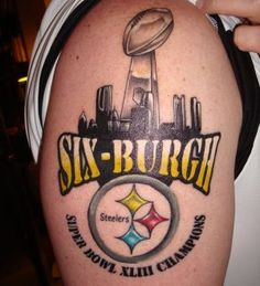 Pittsburgh Steelers Tattoos   Free Steelers Tattoo Offered by Billy Hill Before Super Bowl   Larry ...