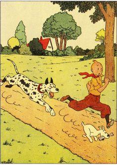 Hergé - Georges Prosper Remi (1907 – 1983). Tintin, L'Ile noire, 1938. [Pinned 14-iv-2015]