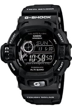 Casio G-Shock G-Force Military Concept Riseman Black G9200BW-1