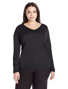 Kanu Surf Womens Plus Size Solid Upf 50 Long Sleeve Swim Shirt Rashguard Black 2X -- More info could be found at the image url.Note:It is affiliate link to Amazon.