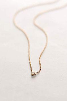 Diamond Mini Heart Necklace - anthropologie.com