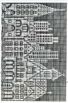 Knitting Charts, Baby Knitting, Knitting Patterns, Crochet Patterns, Cross Stitch House, Cross Stitch Tree, Cross Stitch Patterns, Crochet Coat, Bead Crochet