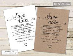 Kraft Wedding Program Fan Wedding Program Template Printable