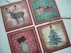 Christmas Tags Rustic Christmas Old Fashioned Vintage by lucyizzy, $3.95