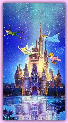 Disney Castle Disney Disney World Disneyland Art Disney, Disney Kunst, Disney Love, Disney Magic, Disney Stuff, Peter Pan Disney, Disney E Dreamworks, Disney Pixar, Disney Cartoons