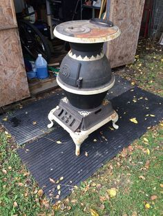 Pot Belly Antique Cast Iron Wood/Coal Stove -Gather Around The Home Town Store #ColumbusIronWorks