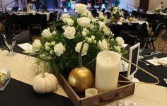 Elegant autumn table arrangement *Creative Touches Evansville*