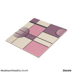 Mondrian & Pastell Fliese Piet Mondrian, Eyeshadow, Beauty, Constructivism, Welcome Home, White Ceramics, Graphics, Pastel, Tile