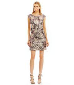 Nicole Miller New York Sequin Open-Back Cocktail Dress