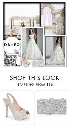 """""""Dameo Wedding dress"""" by b-mila ❤ liked on Polyvore featuring Herz, Lauren Lorraine, women's clothing, women's fashion, women, female, woman, misses, juniors and bride"""