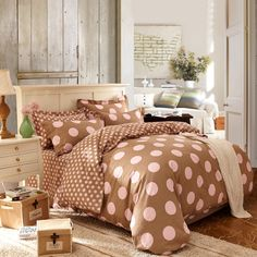 Romance Coffee Cotton Bedding 2014 Duvet Cover Set