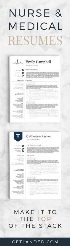 Nursing Resume Template, Nursing CV, Medical CV, Registered Nurse - resume template for nursing