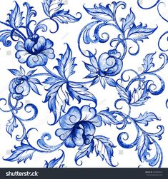 Vector floral watercolor texture pattern with flowers.Seamless pattern can be used for wallpaper,pattern fills,web page background,surface textures - stock vector Watercolor Blue Background, Watercolor Texture, Abstract Watercolor, Watercolor Illustration, Watercolor Flowers, Simple Watercolor, Tattoo Watercolor, Watercolor Animals, Watercolor Landscape