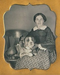 1850s lady with dog