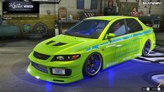 Gta 5 Online, Mitsubishi Lancer Evolution, Car, Automobile, Autos, Cars