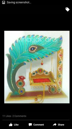 Fghh Gauri Decoration, Mandir Decoration, Ganapati Decoration, Decoration For Ganpati, Recycled Magazine Crafts, Janmashtami Decoration, India Home Decor, Laddu Gopal, Indian Crafts
