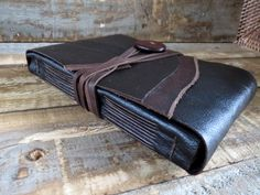 Earth Delights: Leather journal, Handmade