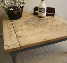 Farmhouse Coffee Table for your Shabby Chic or Country Rustic Decor!