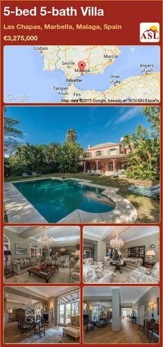 5-bed 5-bath Villa in Las Chapas, Marbella, Malaga, Spain ►€3,275,000 #PropertyForSaleInSpain