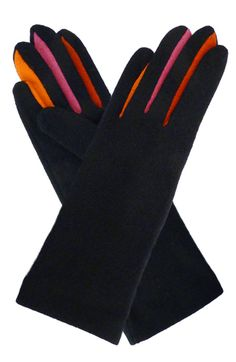 Added colors on these black wool gloves by Vincent Pradier Visit our website www.vincent-pradi...