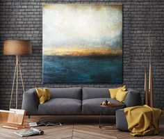 Large Oil Painting Original Canvas Blue Abstract Painting Gray Painting Sunset Painting Contemporary Art Abstract Living Room Wall Art - ALL ABOUT Blue Abstract Painting, Abstract Canvas, Canvas Art, Abstract Painting Ideas On Canvas, Diy Abstract Art, Best Abstract Paintings, Blue Canvas, Contemporary Abstract Art, Art Original
