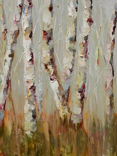 Susie Pryor - reminds me of birches at the lake