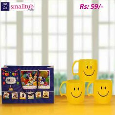 Let your kids start their morning with milk or hot chocolate in this cute mug. Made from durable plastic smiley print on it. These are best suitable for return gifts of birthday parties or any other occasions for kids. Birthday Return Gifts, Cute Mugs, Single Piece, Smiley, Hot Chocolate, Gifts For Kids, Birthday Parties, Plastic, Tableware