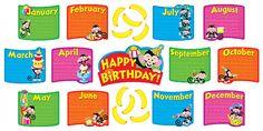 Monkey Mischief Birthday Bunch Bulletin Board Set (T-8746) #classroom #decor #AILtyler