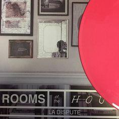 """La Dispute """"Rooms of The House"""" 2014 Newbury Comics exclusive Bubblegum pink pressing /500 by okvinyls"""