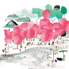 Beautiful Spring print by illustrator Natsko Seki - available from her website or the Tate Online Shop