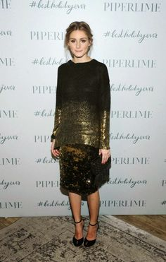 Olivia Palermo Celebrates the Holidays at the Piperlime SoHo Store.