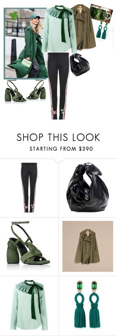 """""""St Patrick's day"""" by statuslusso ❤ liked on Polyvore featuring Gucci, Simone Rocha, Chloé and Oscar de la Renta"""
