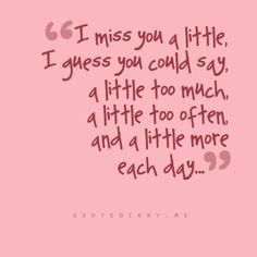 Missing you....always !