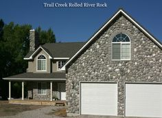 Rolled River Rock | Kodiak Mountain Stone Stone Gallery, Manufactured Stone, Rolls, Mountain, River, Mansions, House Styles, Outdoor Decor, Home Decor