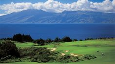 This is the 17th hole at Kapalua on Maui. I was lucky enough to play it a couple of years ago. It was breathtaking!