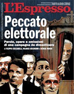 La copertina dell'Espresso in edicola da domenica 25 febbraio