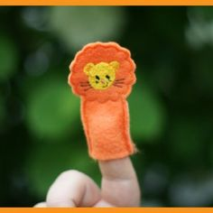 In The Hoop Machine Embroidery Lion Finger Puppet