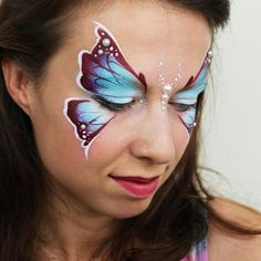 Butterfly Face Painting by Ashlea Henson